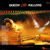 Live Killers Vinyl Back Sleeve