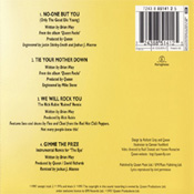 No-One But You CD Back Sleeve