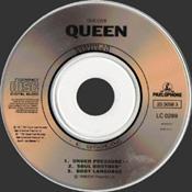 "Under Pressure 3"" CD Disc"