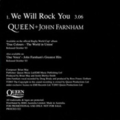 We Will Rock You Back Sleeve